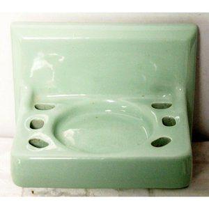 60s MCM Bathroom Fixture Toothbrush Holder Porcela